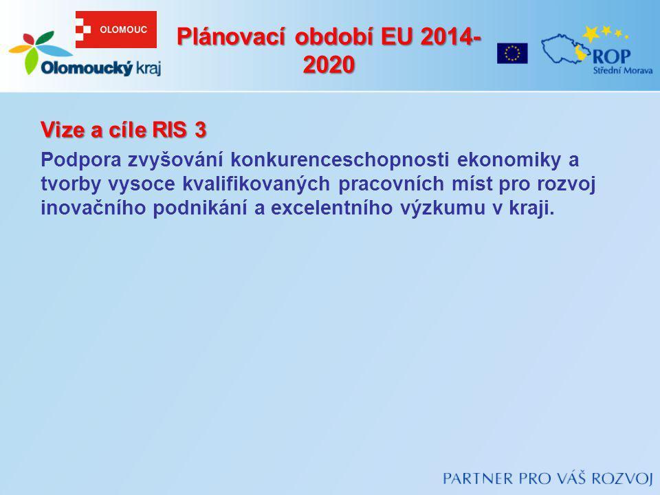 Plánovací období EU 2014-2020 Vize a cíle RIS 3