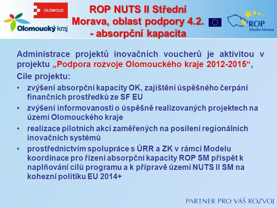 ROP NUTS II Střední Morava, oblast podpory 4.2. - absorpční kapacita