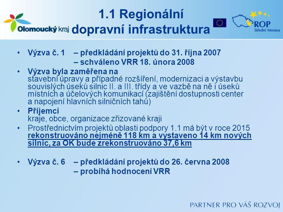 1.1 Regionální dopravní infrastruktura