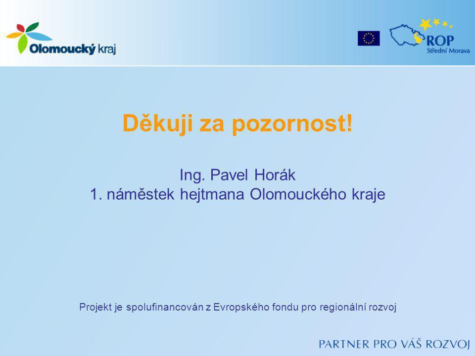Projekt je spolufinancován z Evropského fondu pro regionální rozvoj