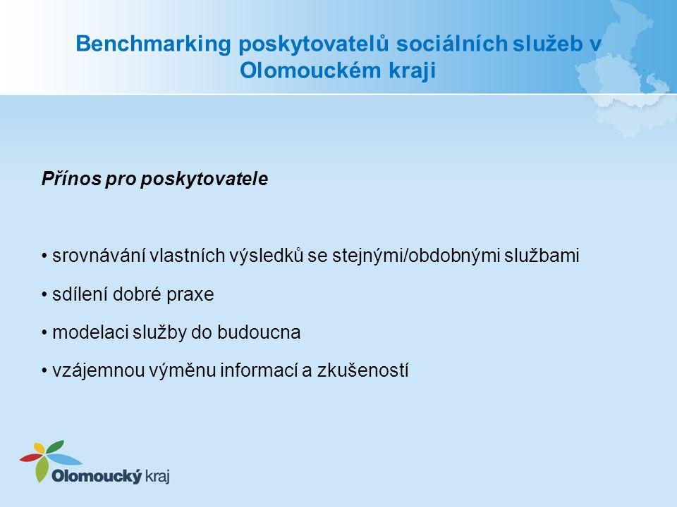 Benchmarking poskytovatelů sociálních služeb v Olomouckém kraji
