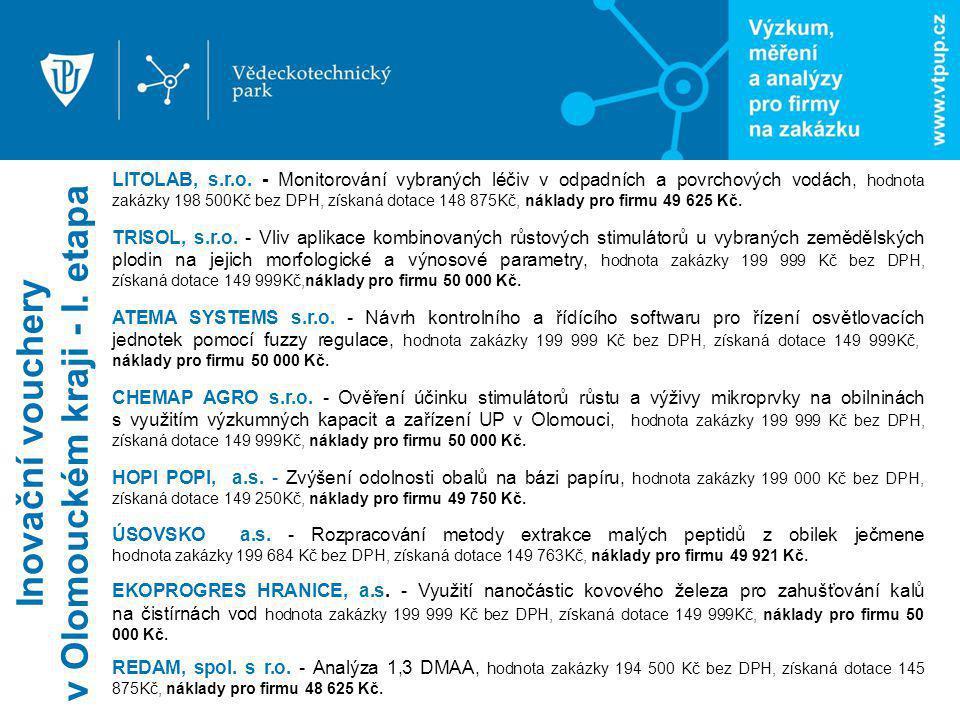 Inovační vouchery v Olomouckém kraji - I. etapa