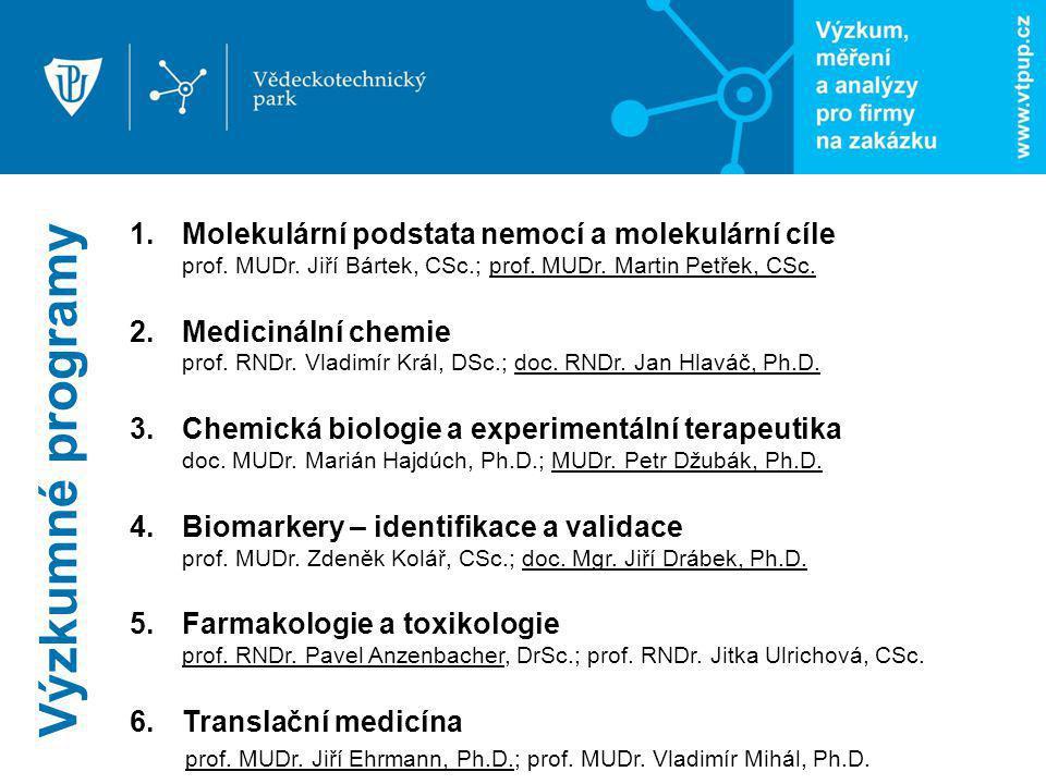 Výzkumné programy Molekulární podstata nemocí a molekulární cíle prof. MUDr. Jiří Bártek, CSc.; prof. MUDr. Martin Petřek, CSc.