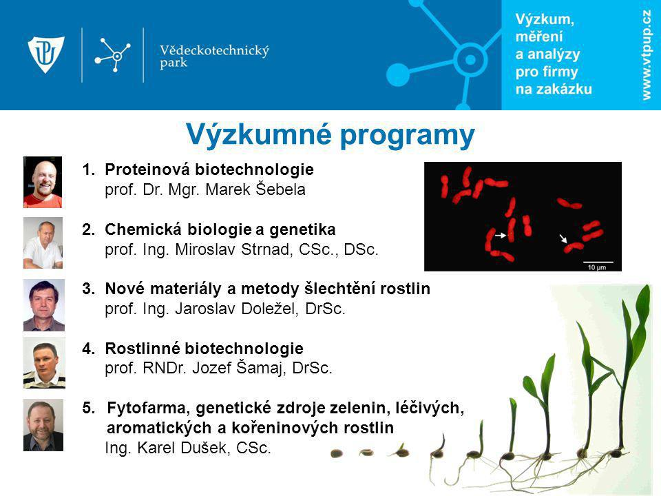 Výzkumné programy 1. Proteinová biotechnologie