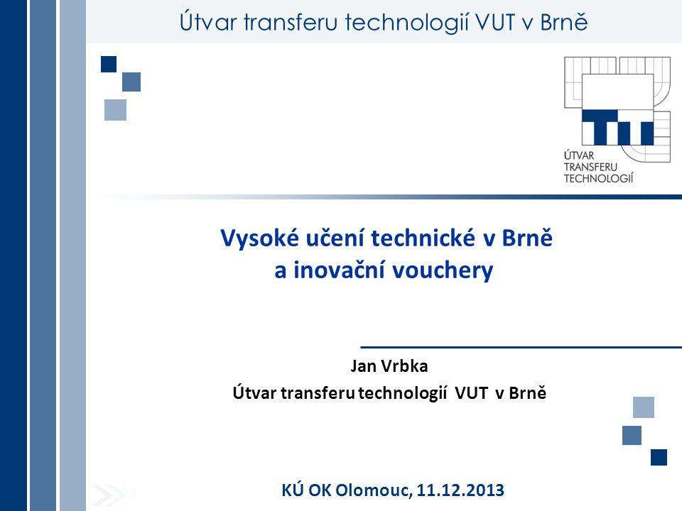 Vysoké učení technické v Brně a inovační vouchery