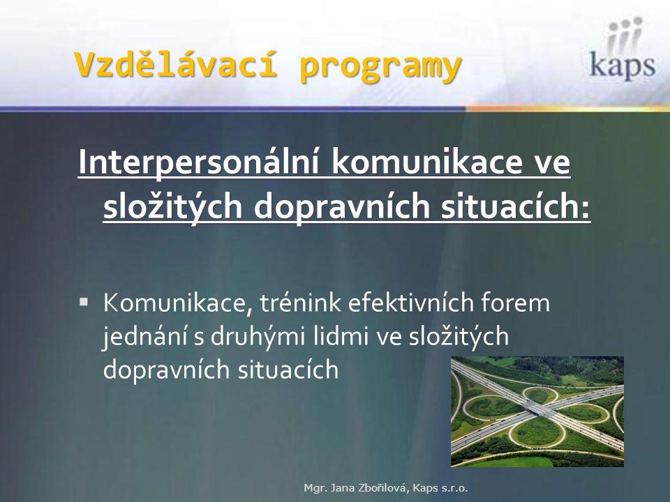Interpersonální komunikace ve složitých dopravních situacích:
