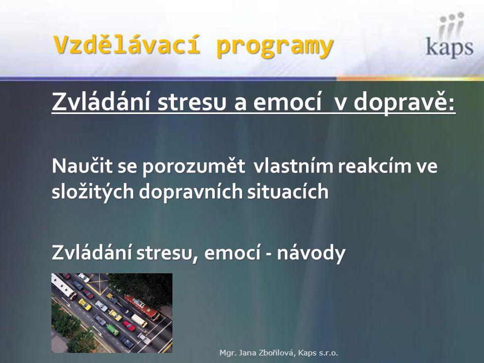 Zvládání stresu a emocí v dopravě: