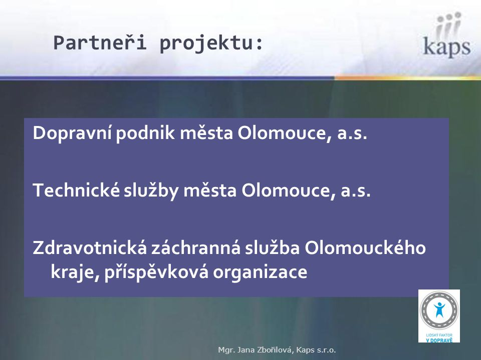 Partneři projektu: