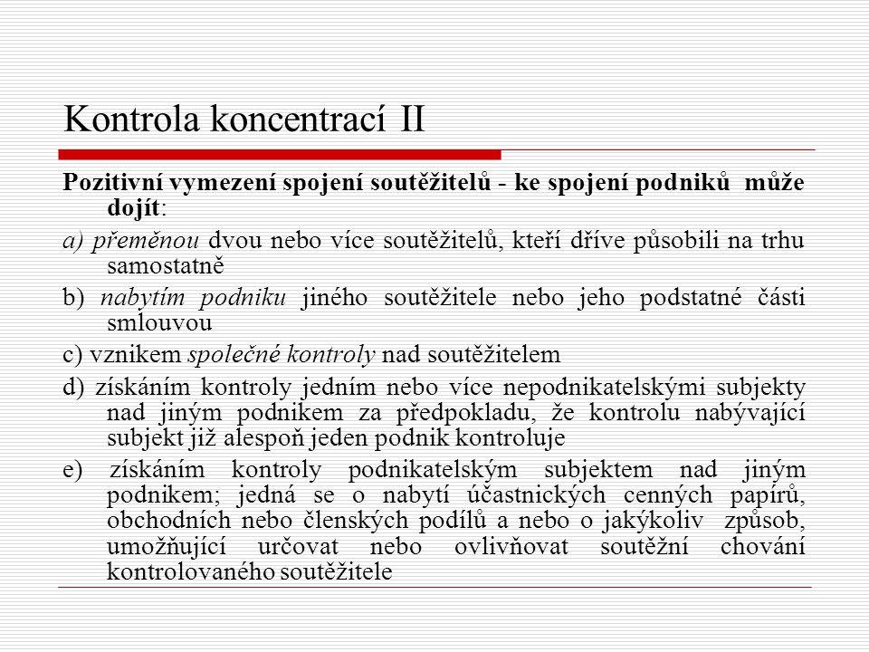 Kontrola koncentrací II