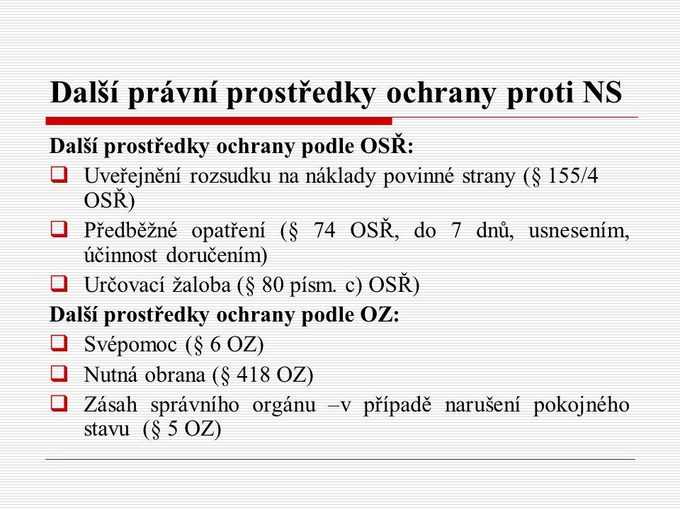 Další právní prostředky ochrany proti NS