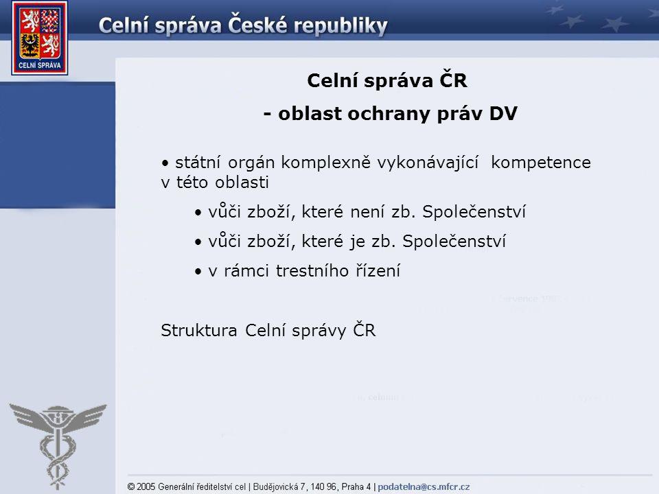 - oblast ochrany práv DV