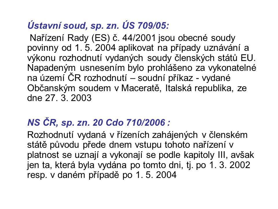 Ústavní soud, sp. zn. ÚS 709/05:
