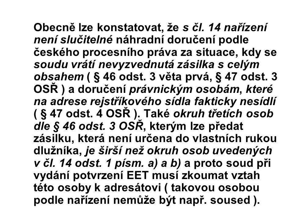 Obecně lze konstatovat, že s čl
