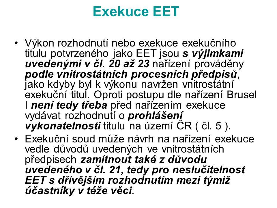 Exekuce EET