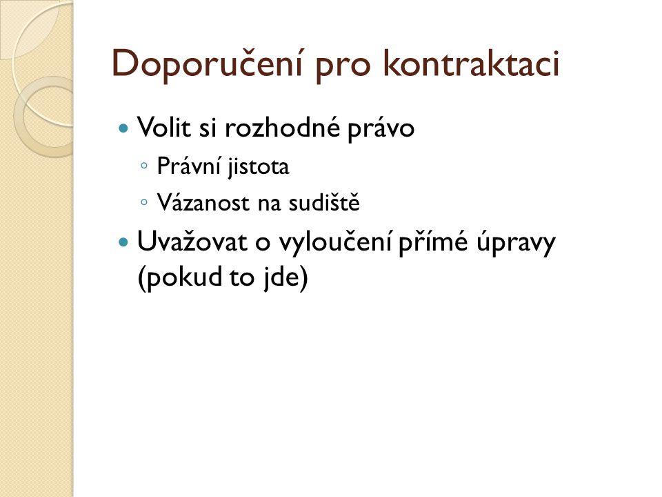 Doporučení pro kontraktaci