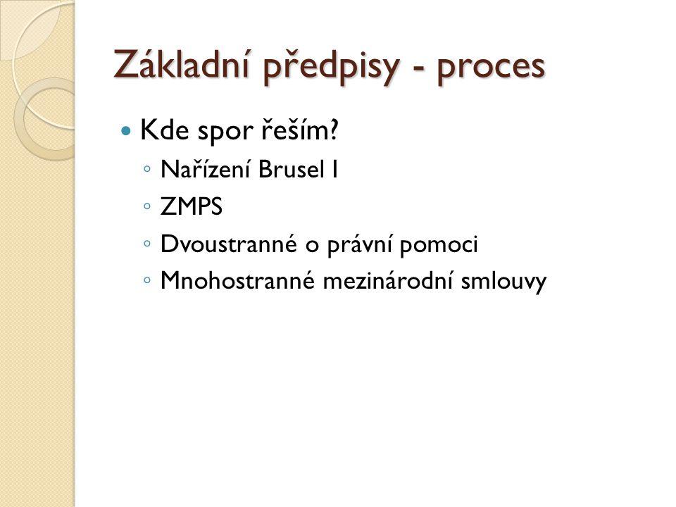 Základní předpisy - proces