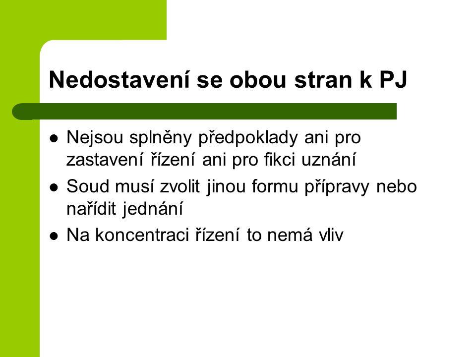 Nedostavení se obou stran k PJ