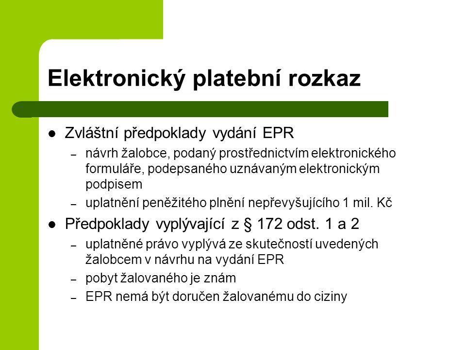Elektronický platební rozkaz