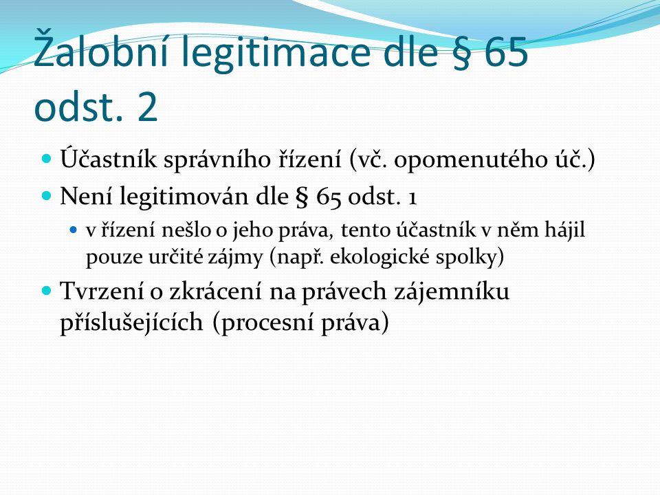 Žalobní legitimace dle § 65 odst. 2