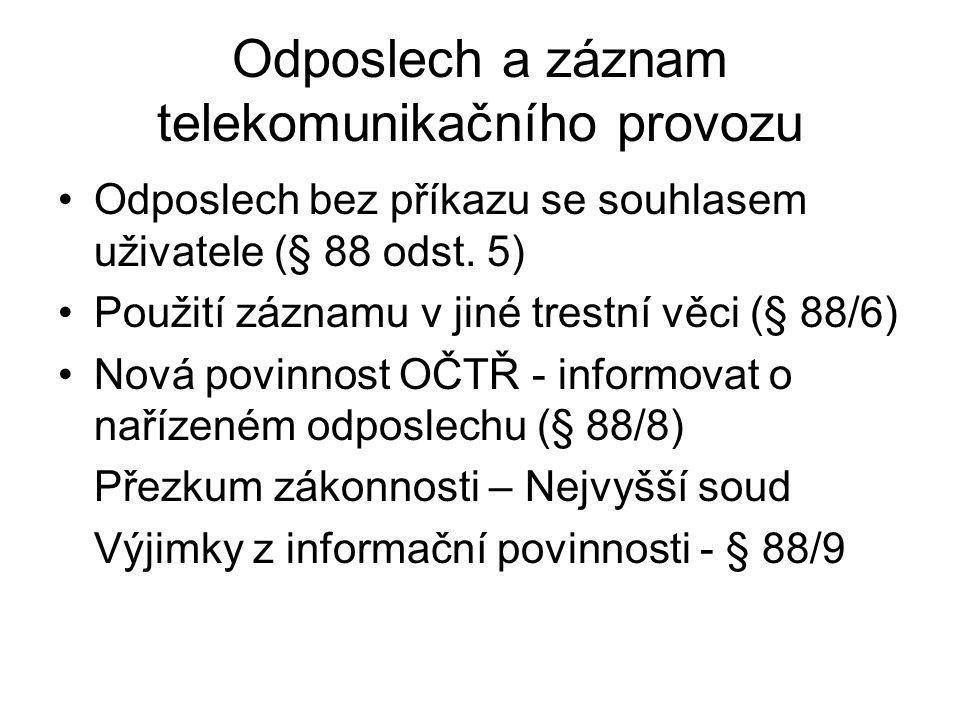 Odposlech a záznam telekomunikačního provozu