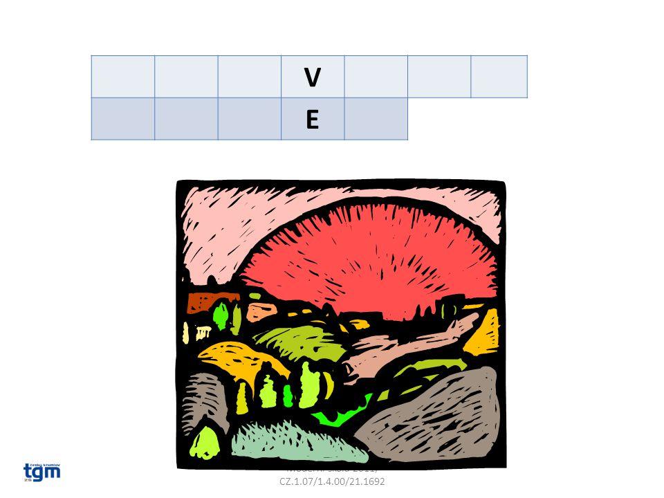 V E Poznámky: Národní přírodní památka v rébusu.