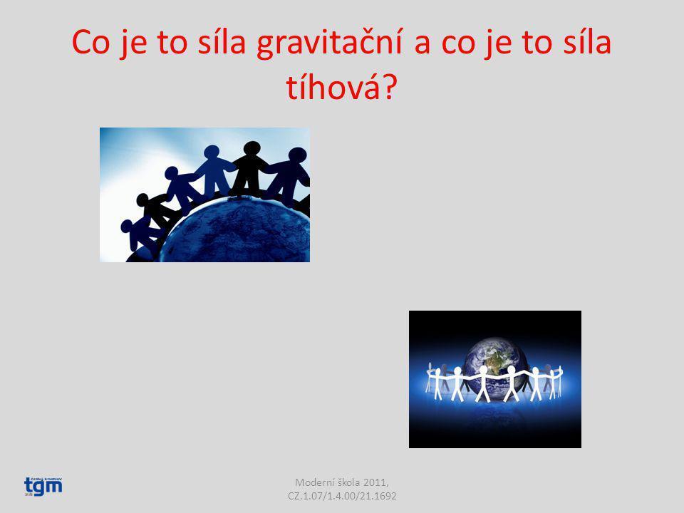 Co je to síla gravitační a co je to síla tíhová