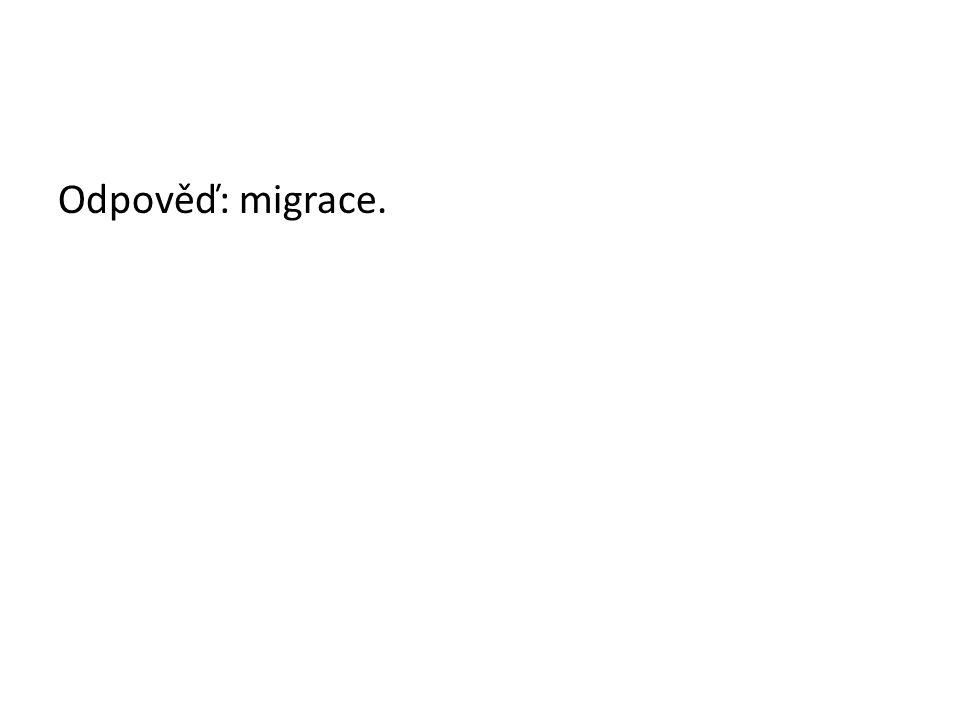 Odpověď: migrace.