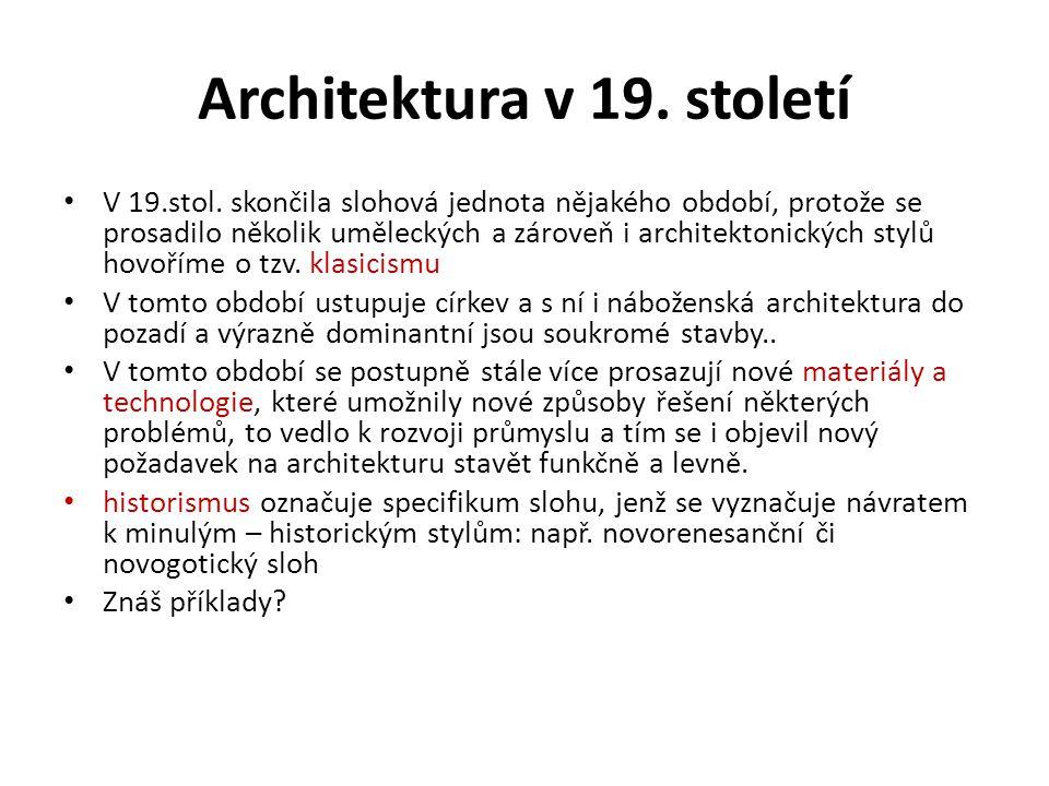 Architektura v 19. století