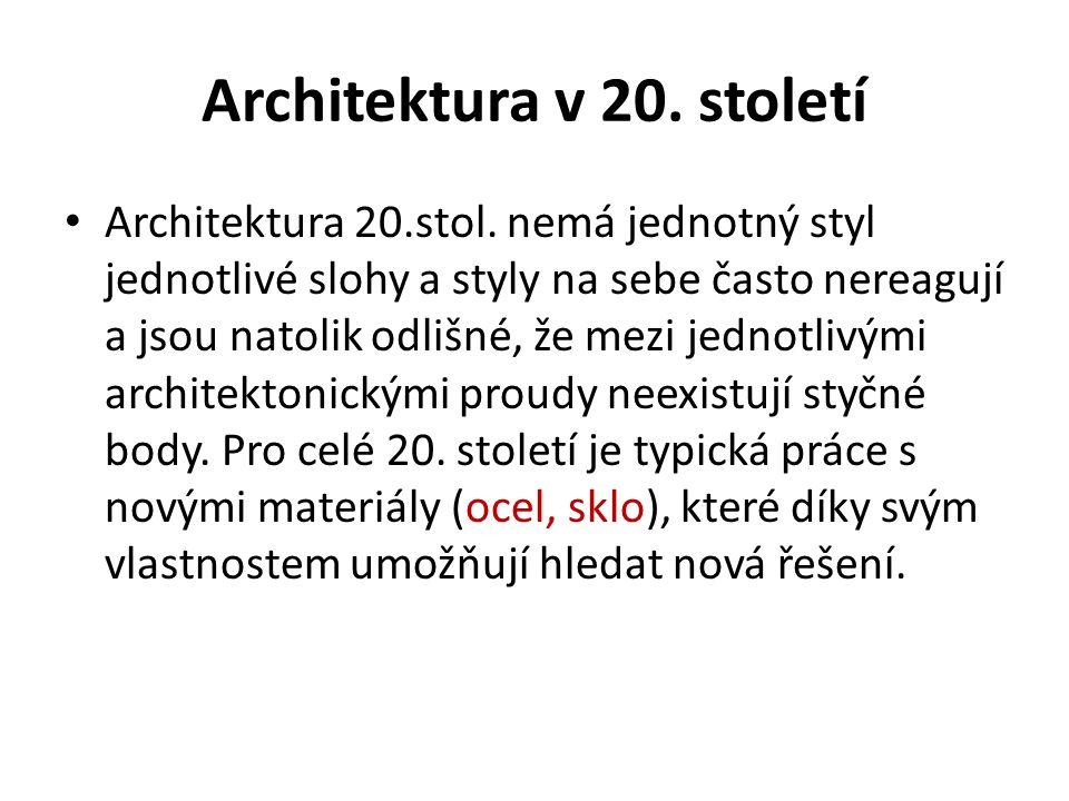 Architektura v 20. století