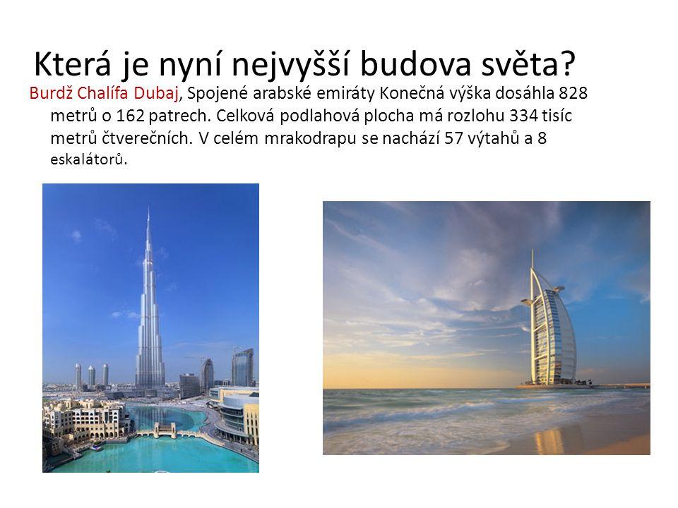 Která je nyní nejvyšší budova světa