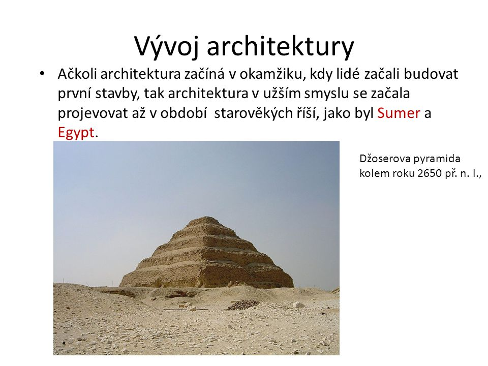 Vývoj architektury