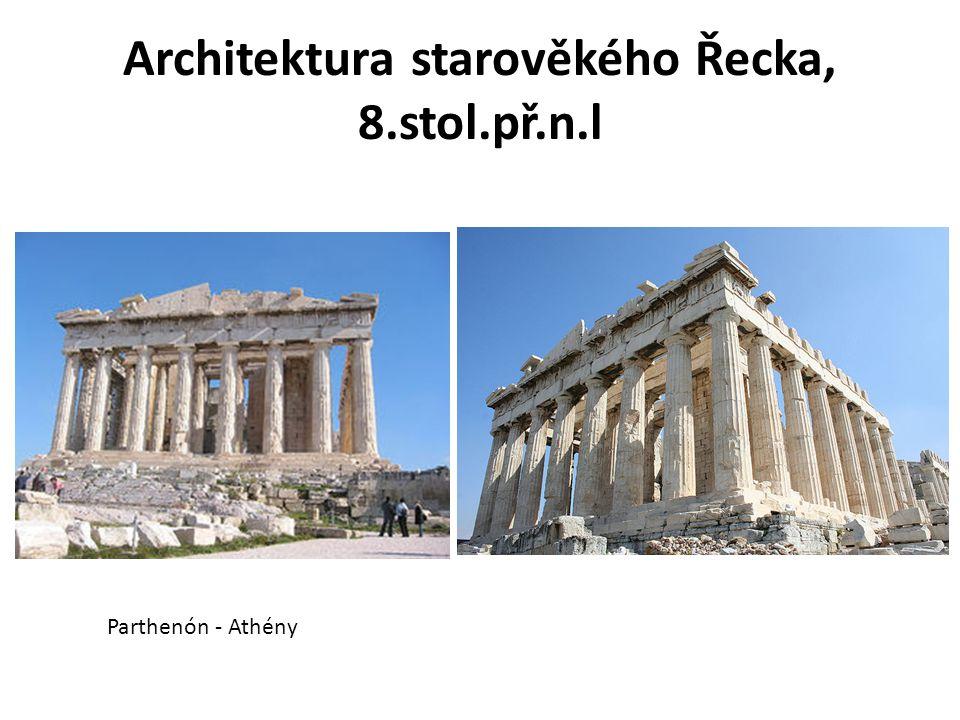 Architektura starověkého Řecka, 8.stol.př.n.l