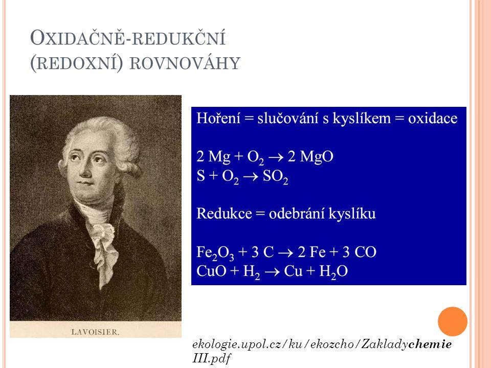 Oxidačně-redukční (redoxní) rovnováhy