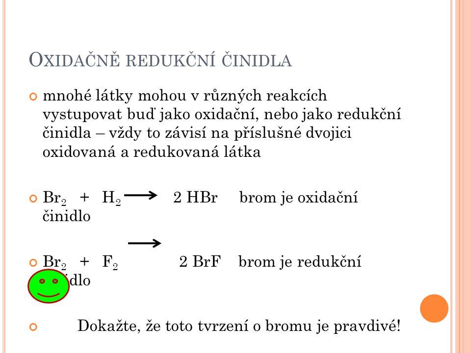 Oxidačně redukční činidla