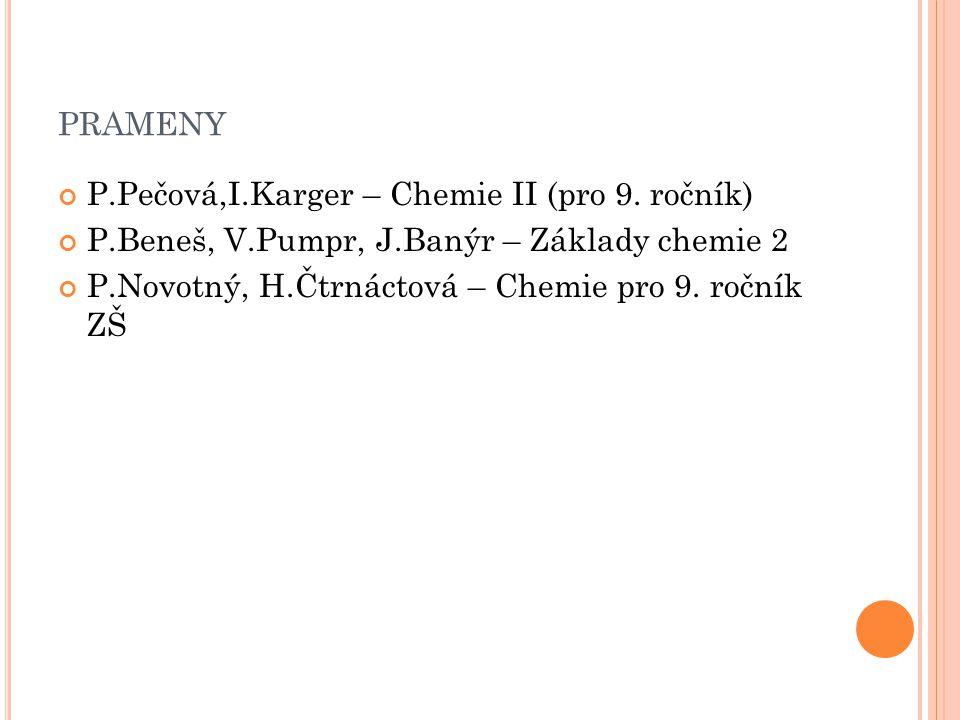 prameny P.Pečová,I.Karger – Chemie II (pro 9. ročník)
