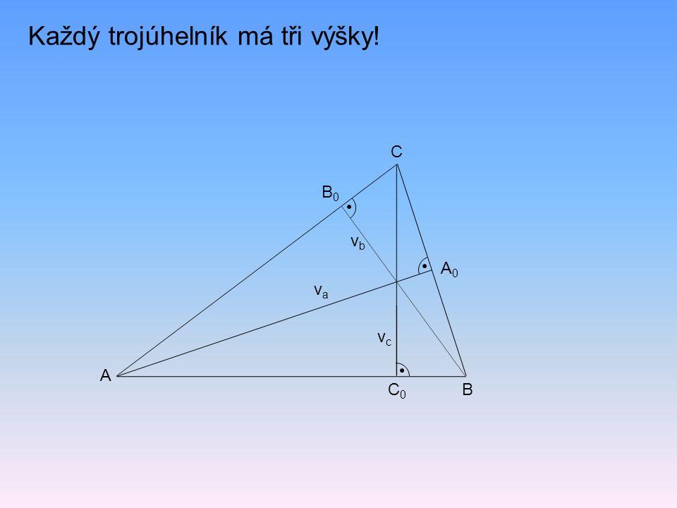 Každý trojúhelník má tři výšky!