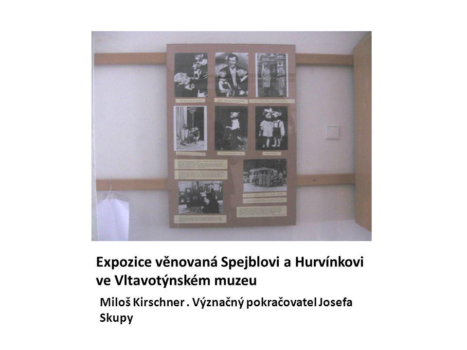 Expozice věnovaná Spejblovi a Hurvínkovi ve Vltavotýnském muzeu