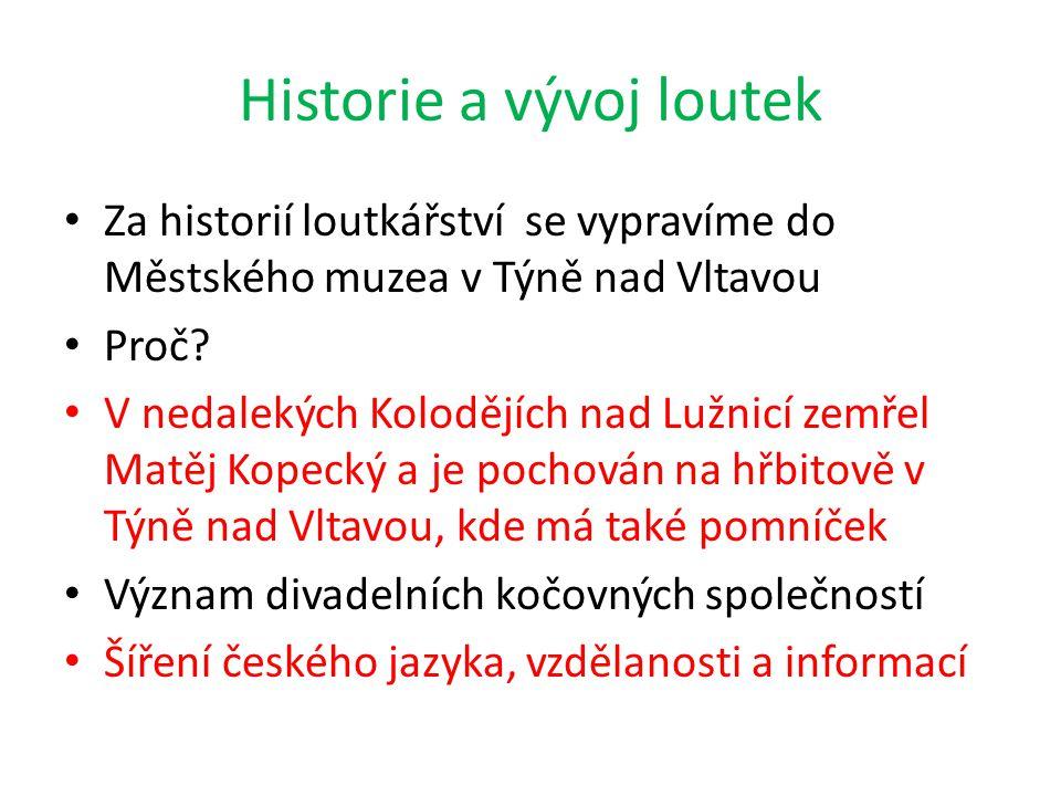 Historie a vývoj loutek