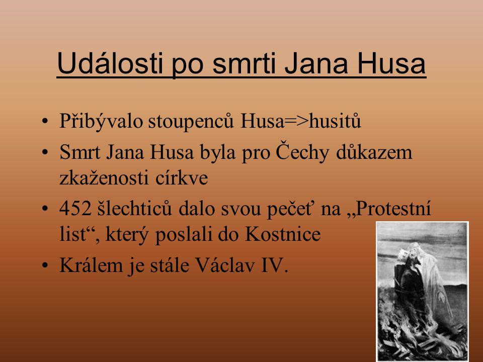 Události po smrti Jana Husa