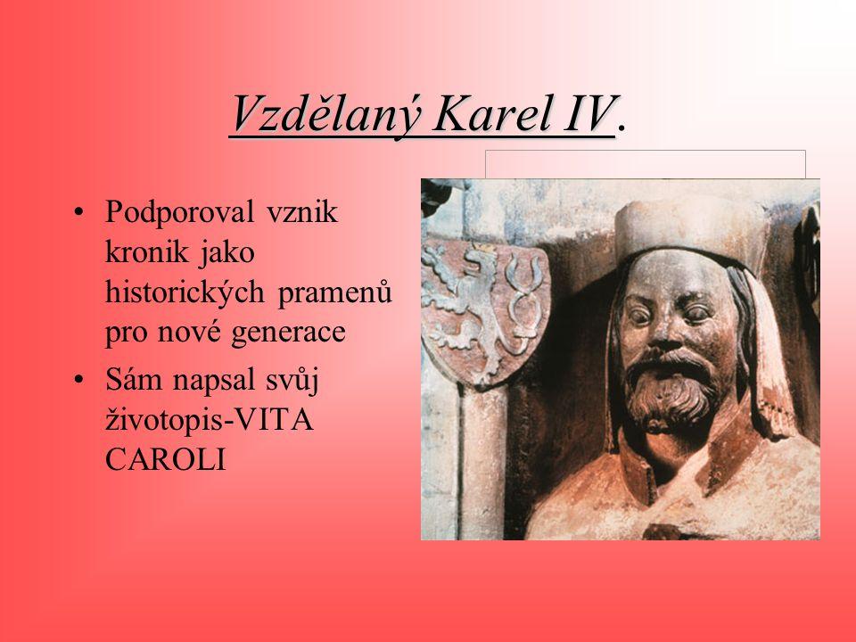 Vzdělaný Karel IV.