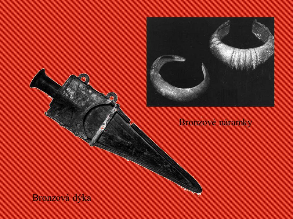 Bronzové náramky Bronzová dýka