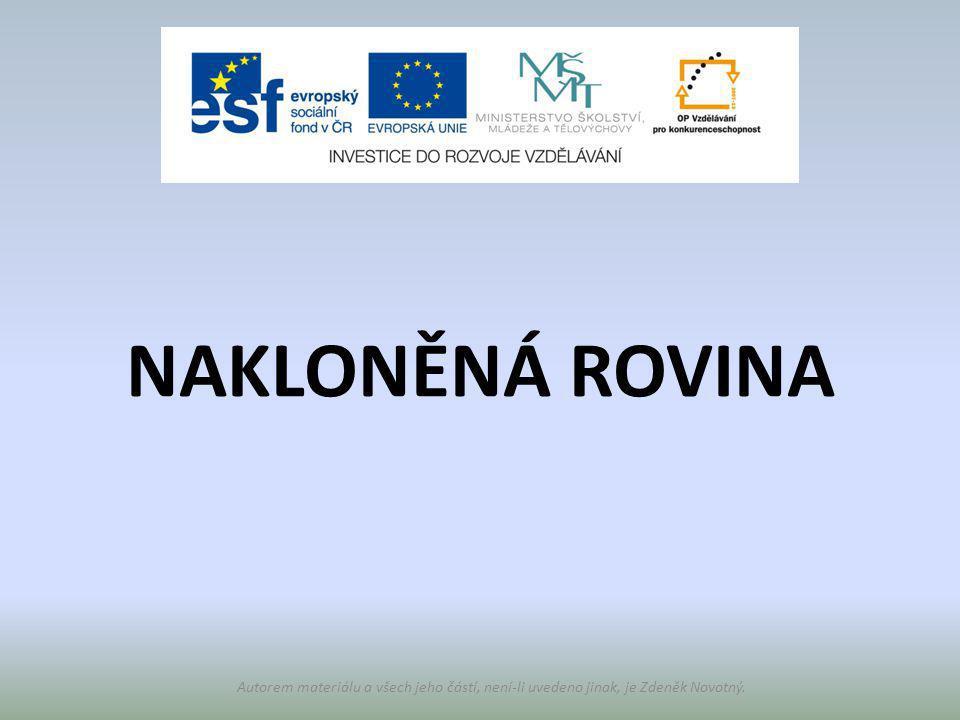 NAKLONĚNÁ ROVINA Autorem materiálu a všech jeho částí, není-li uvedeno jinak, je Zdeněk Novotný.