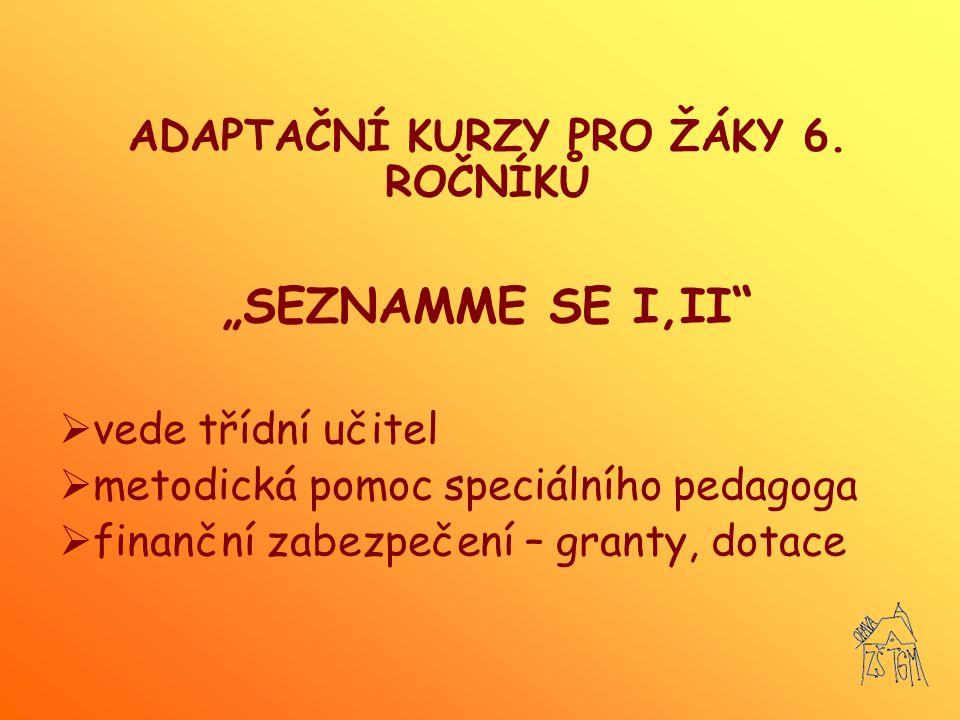 ADAPTAČNÍ KURZY PRO ŽÁKY 6. ROČNÍKŮ