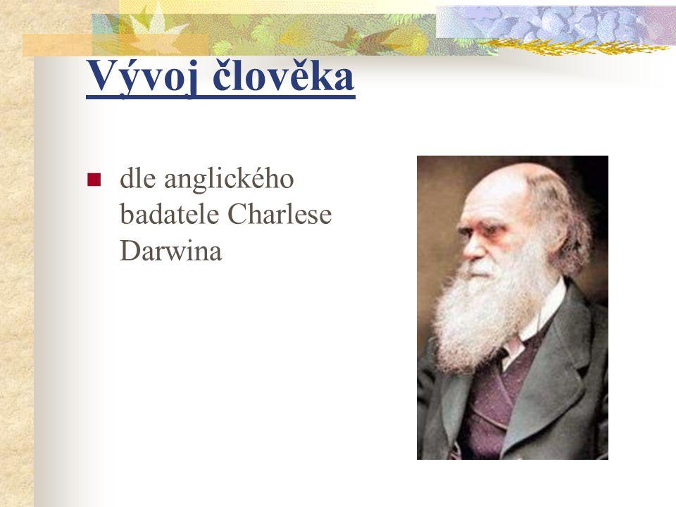 Vývoj člověka dle anglického badatele Charlese Darwina