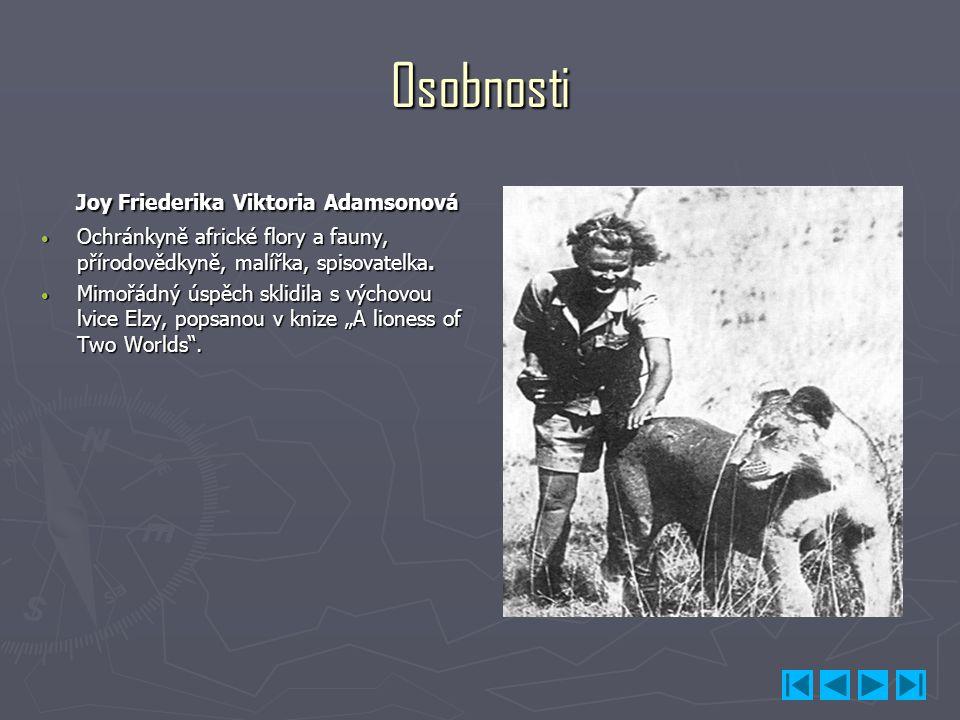 Osobnosti Joy Friederika Viktoria Adamsonová