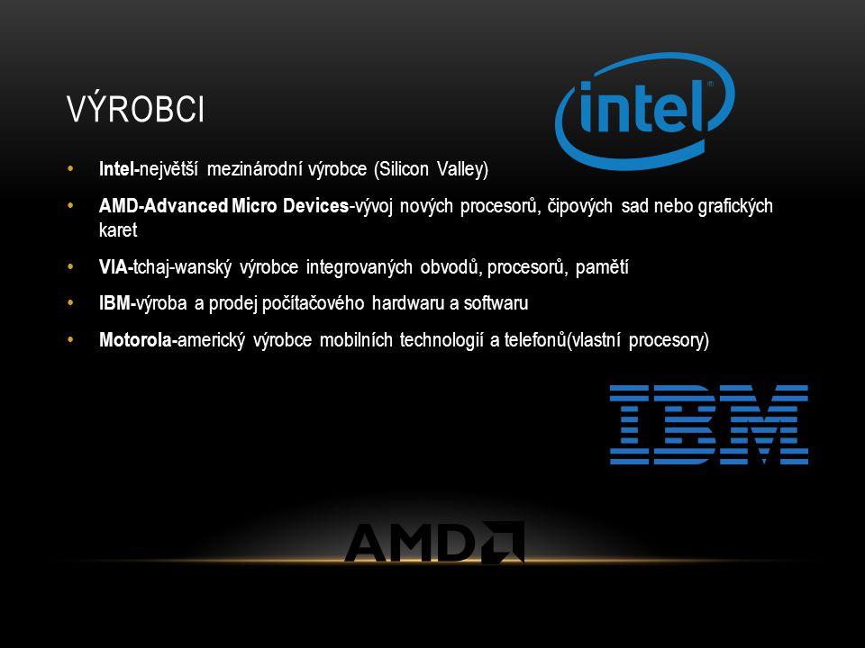 VÝROBCI Intel-největší mezinárodní výrobce (Silicon Valley)