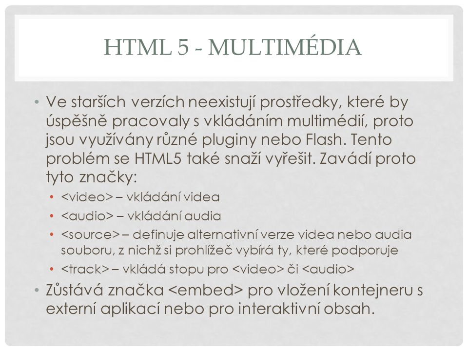 HTML 5 - multimédia
