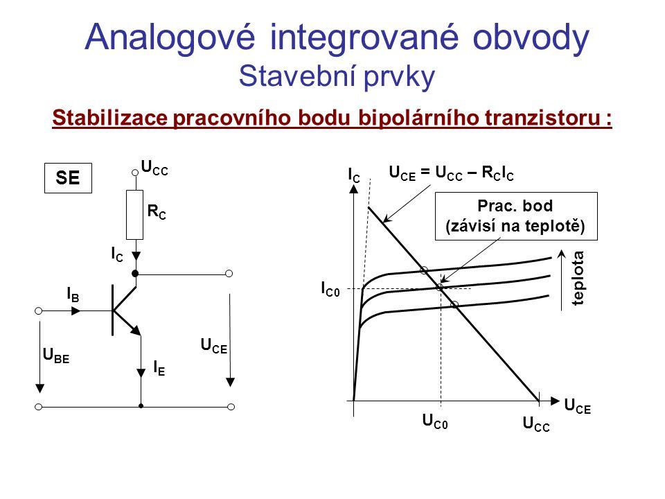 Stabilizace pracovního bodu bipolárního tranzistoru :