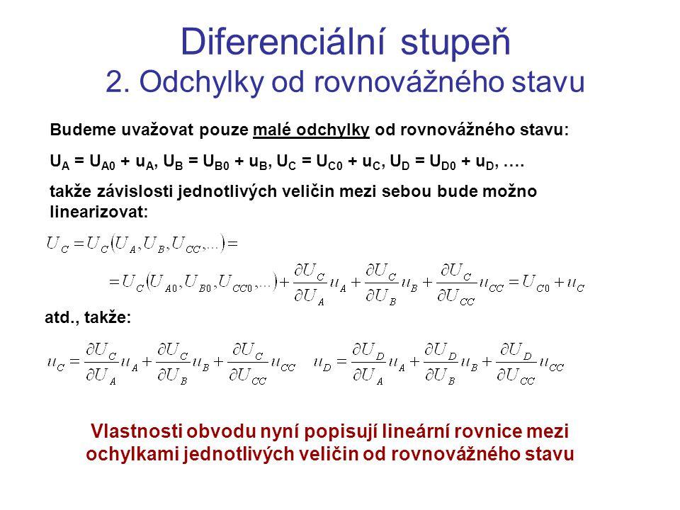 Diferenciální stupeň 2. Odchylky od rovnovážného stavu
