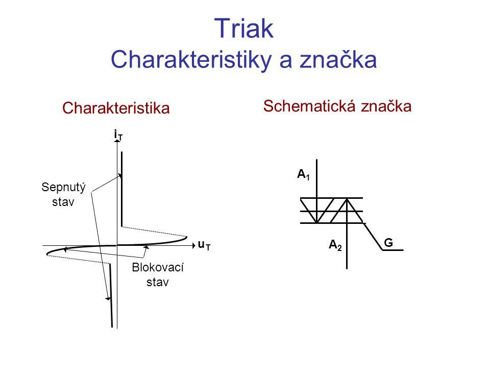 Triak Charakteristiky a značka